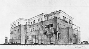 Giovanni Michelucci: Casa Valiani in Rom, 1929-31. Blick auf die Fassade. Foto: Architettura e arti decorative 1930-31.