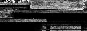 Frank Lloyd Wright: Jacobs House, Madison (Wisconsin), 1936. Detail der Straßenansicht.