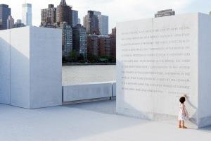 Auszug der Rede. Quelle: Franklin D. Roosevelt Four Freedoms Park, © Iwan Baan.