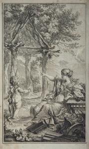 Charles Eisen: Frontispiz zu Laugiers 'Essai sur l'architecture', 1755.